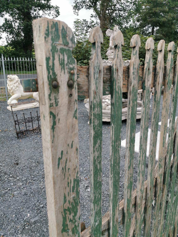 Pair of rare 19th C. oak entrance gates. - Image 3 of 4