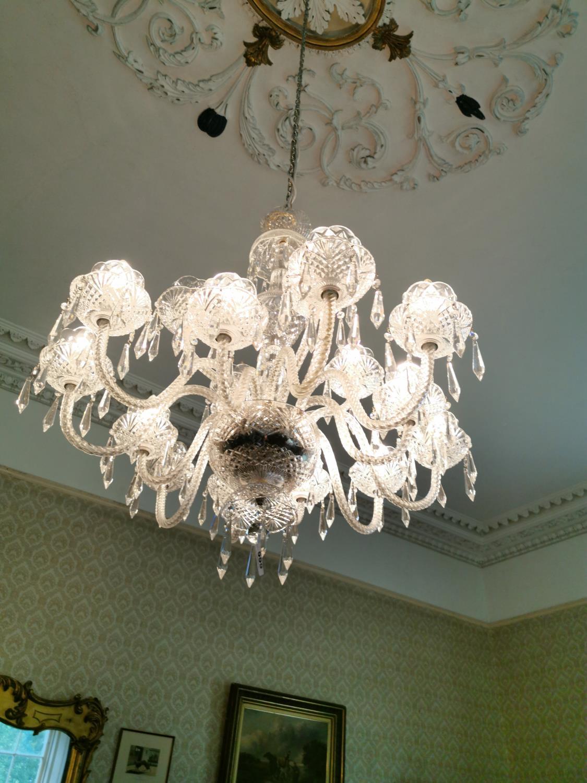 Irish crystal eighteen branch chandelier. - Image 2 of 4