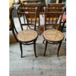 Pair of early 20th C. bentwood chairs.