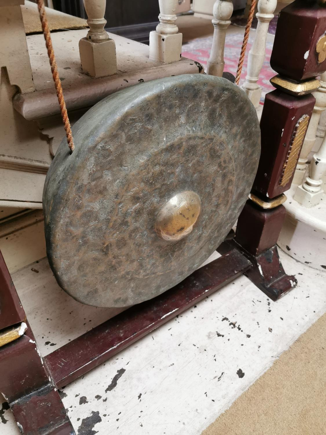 Early 20th. C. Oriental dinner gong. - Image 2 of 3