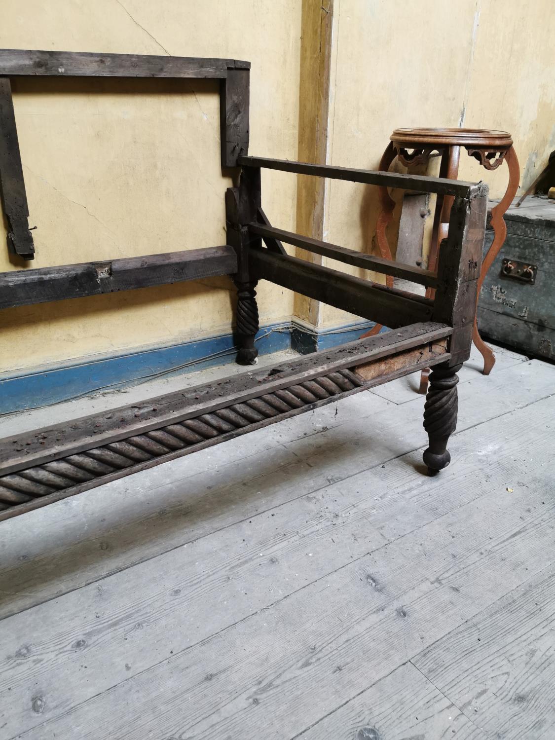Mahogany Regency sofa frame. - Image 2 of 2