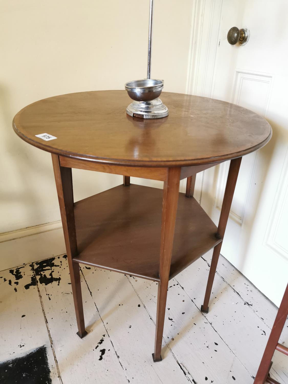 Edwardian satinwood occasional table.