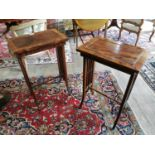 Pair of decorative 19th. C. mahogany occasional tables