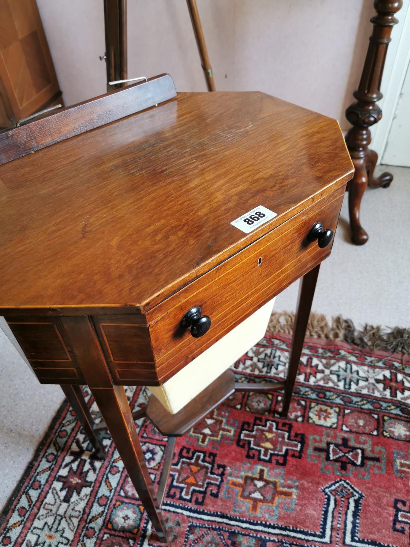 Regency inlaid mahogany music stand. - Image 2 of 2
