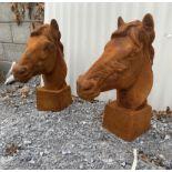 Pair of horses heads