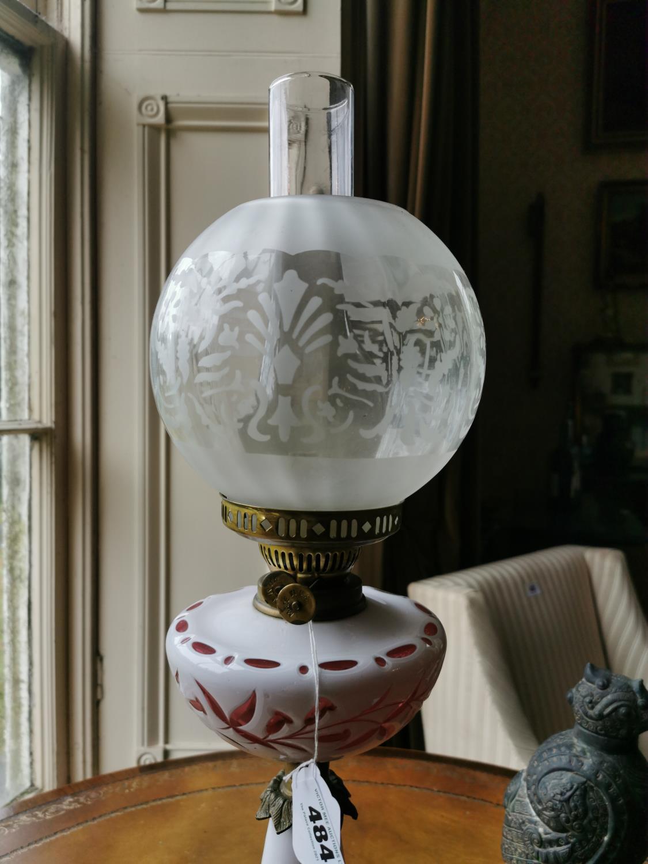 19th. C. oil lamp - Image 2 of 2