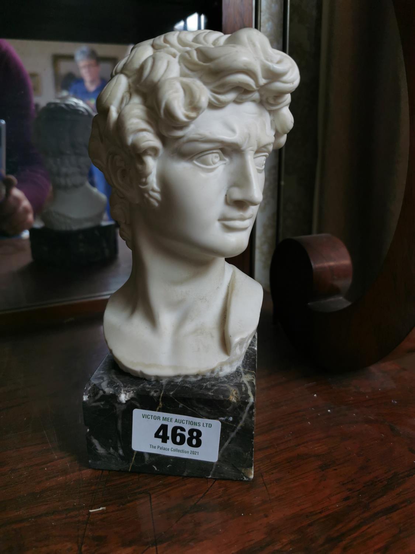 Parian ware bust of David