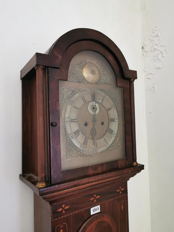 19th. C. inlaid mahogany long cased clock. - Image 2 of 2