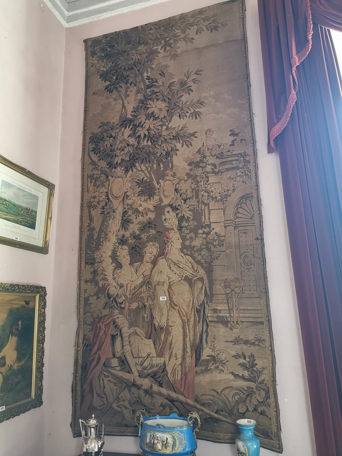 Pair of extremely rare 18th C. Flemish tapestries. - Image 7 of 11