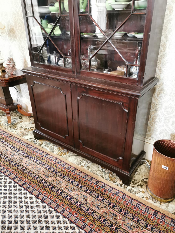 Georgian mahogany bookcase - Image 5 of 5