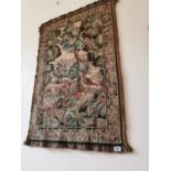 Early 20th C. tapestry Woodland scene.