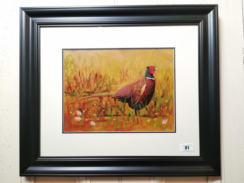 R Keefer The Cock Pheasant Watercolour