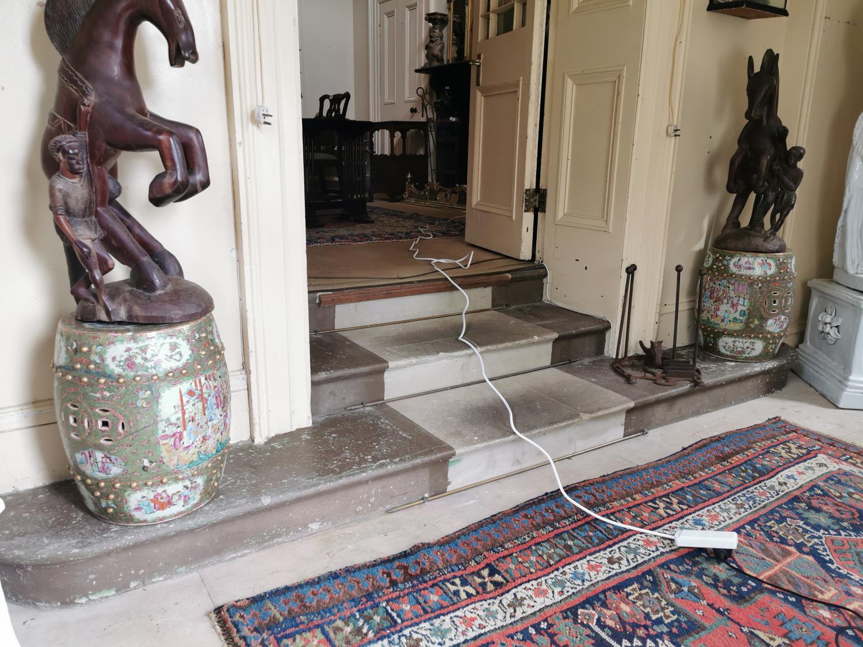 Pair of 19th. C. Oriental ceramic conservatory stools