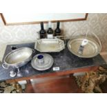Misc. lot of silverplate