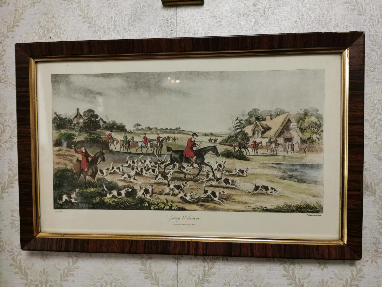 Set of four 19th. C. coloured Hunting prints - Image 2 of 3
