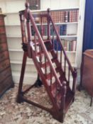 Stylish set of mahogany library steps