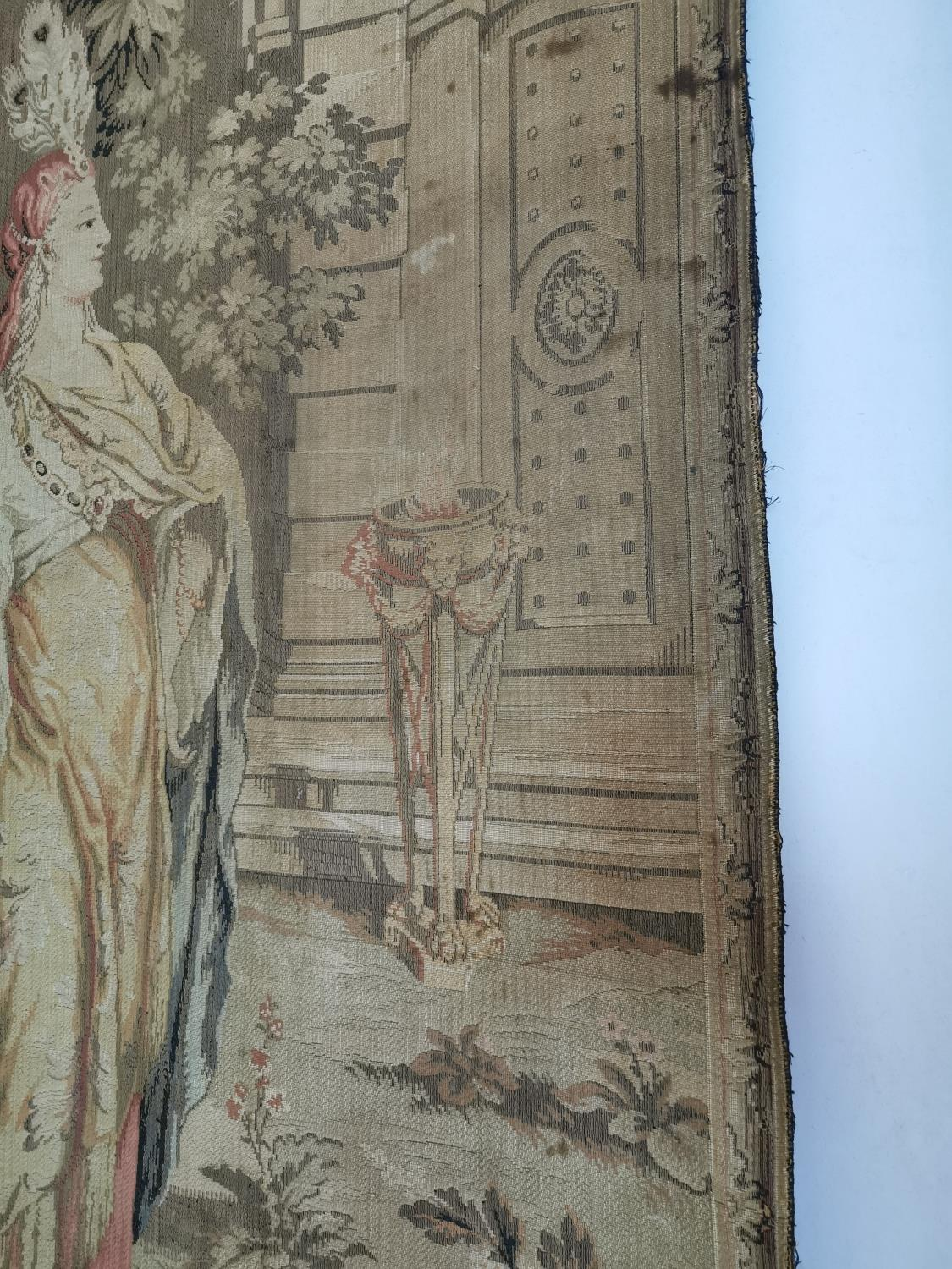Pair of extremely rare 18th C. Flemish tapestries. - Image 10 of 11