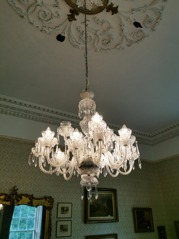 Irish crystal eighteen branch chandelier.