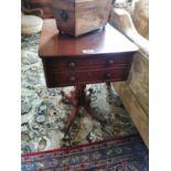 Regency mahogany lamp table.