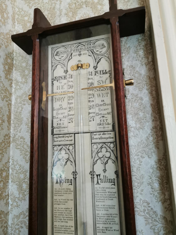 Mahogany barometer - Image 2 of 4
