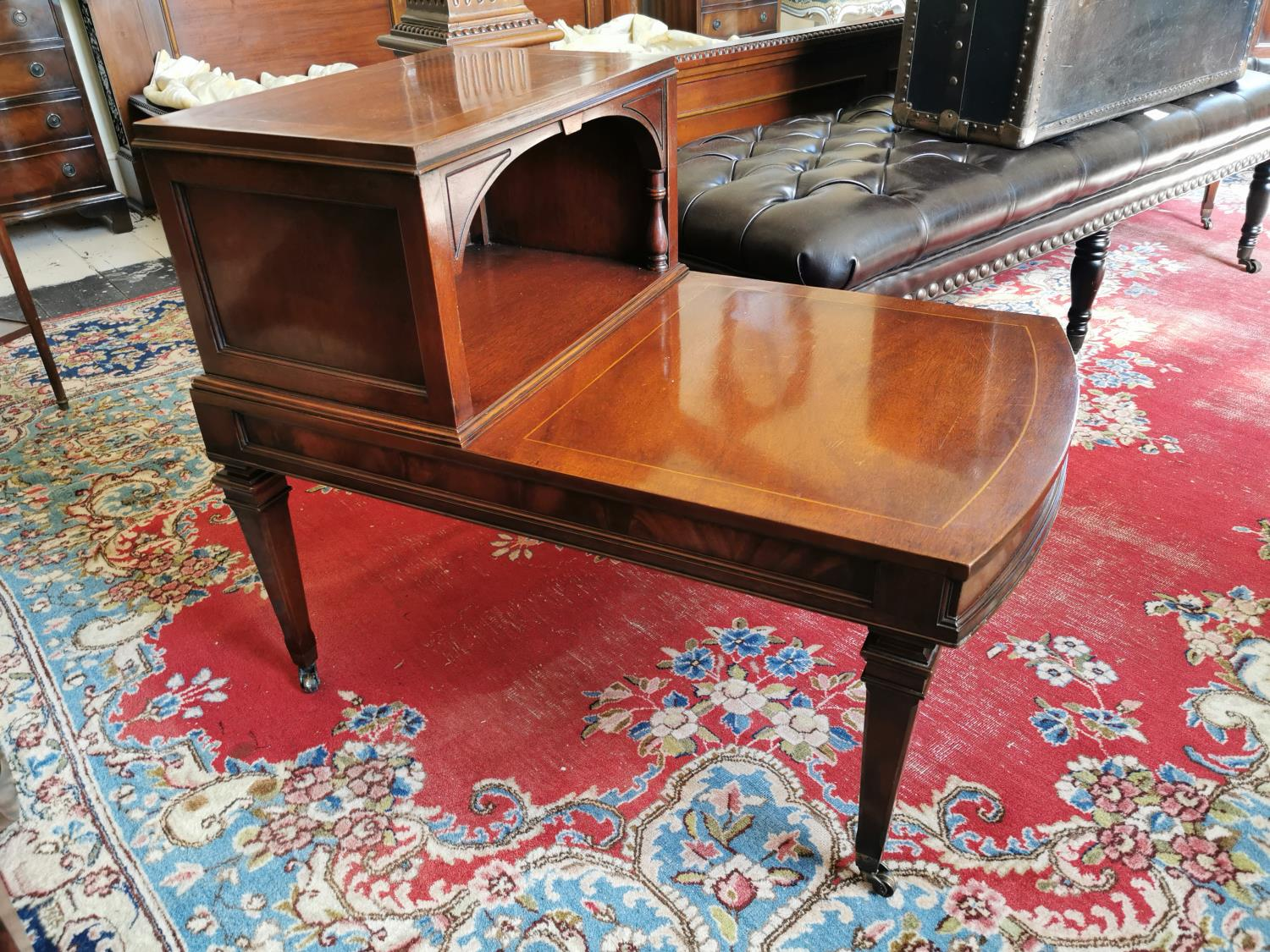 Pair of satinwood bedside seats. - Image 2 of 2