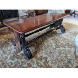 19th. C. mahogany coffee table.