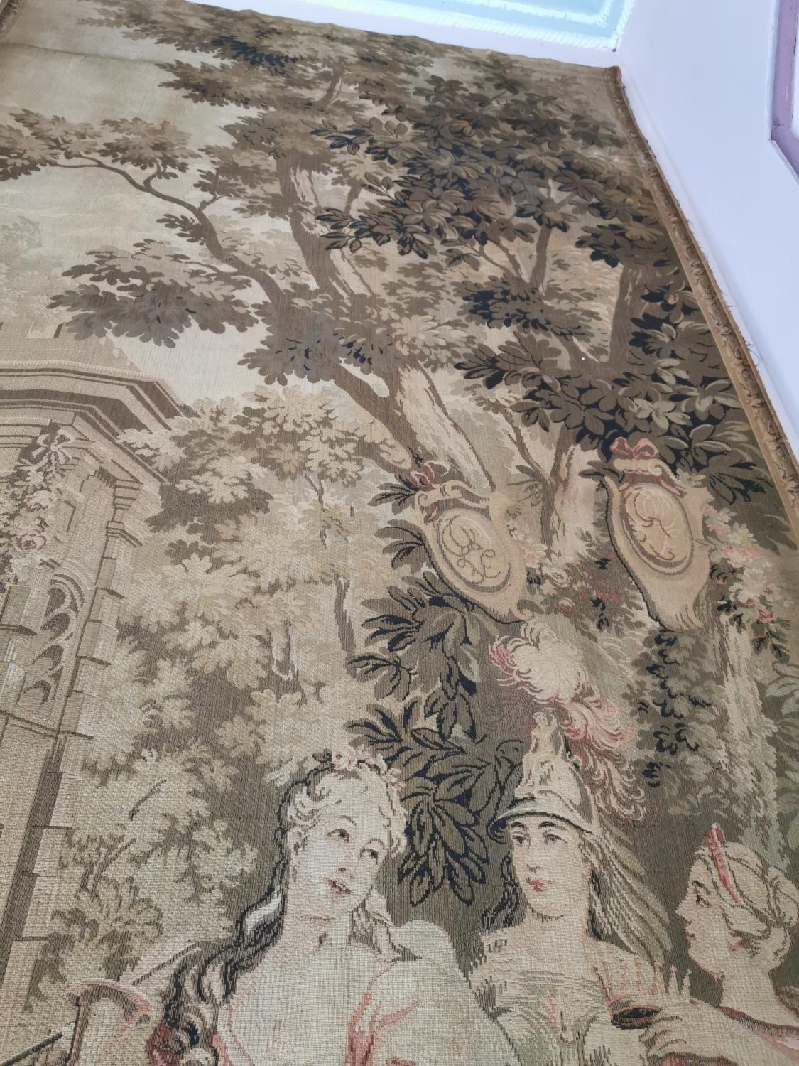 Pair of extremely rare 18th C. Flemish tapestries. - Image 6 of 11