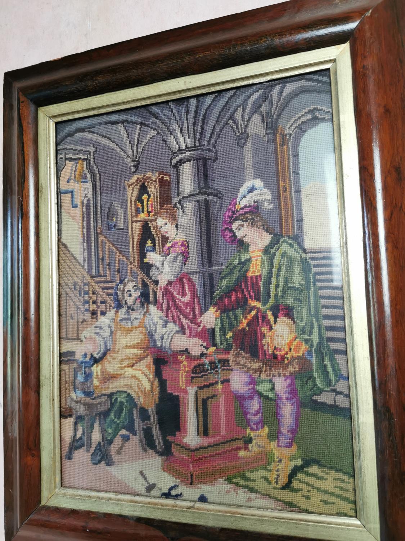19th. C. framed tapestry. - Image 2 of 2