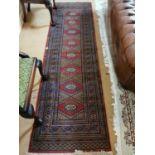 Persian carpet runner.