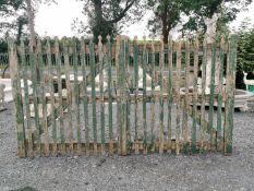 Pair of rare 19th C. oak entrance gates.