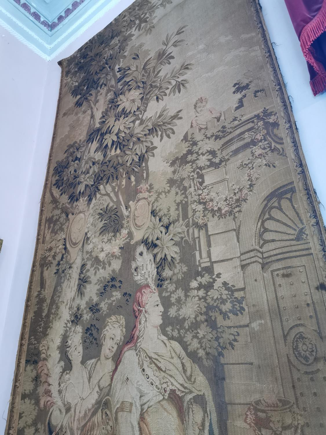 Pair of extremely rare 18th C. Flemish tapestries. - Image 11 of 11