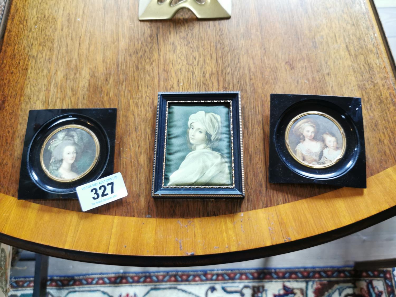 Two miniatures in bakelite frames
