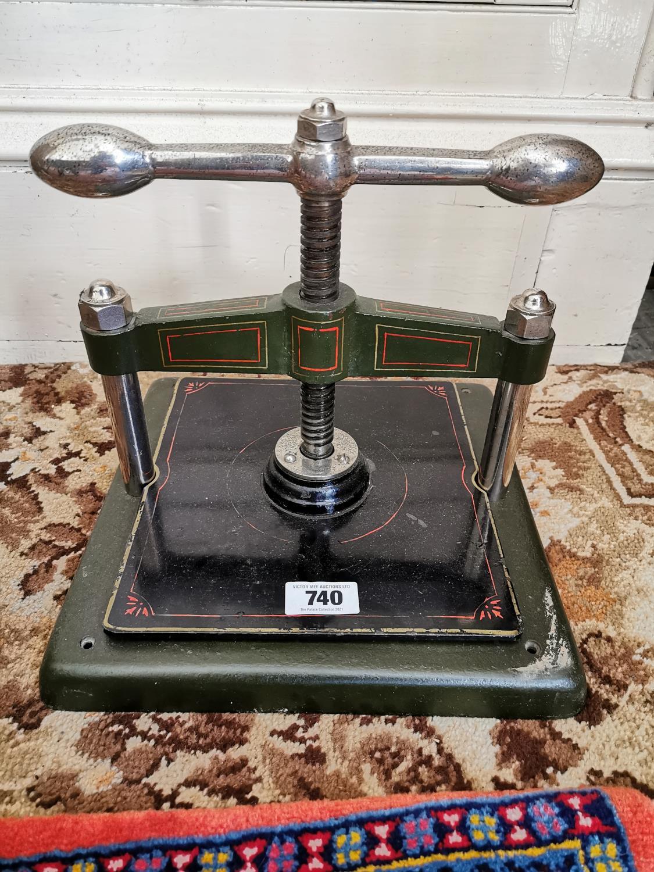 19th. C. metal book press - Image 2 of 2