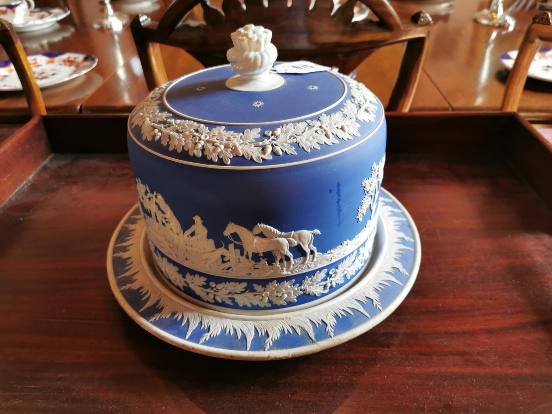 19th C. Wedgewood ceramic cheese dish.