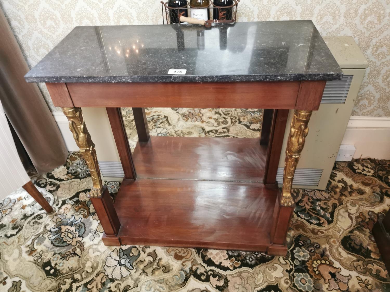 Regency mahogany console table - Image 4 of 5