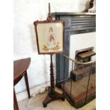 William IV rosewood fire screen.