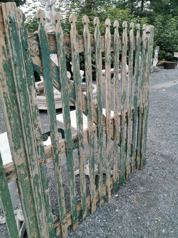 Pair of rare 19th C. oak entrance gates. - Image 2 of 4