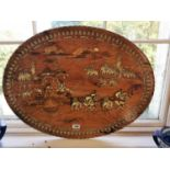 Early 20th C. Italian rosewood wall plaque