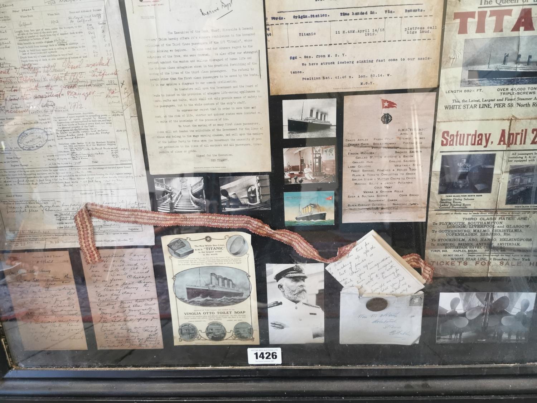 Titanic framed montage. - Image 2 of 2