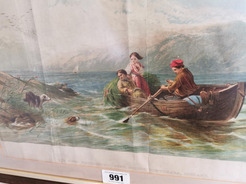 19th C. framed coloured print. - Image 2 of 2