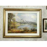 Denis Thornton Rural Scene Oil on Canvas