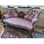 19th C. rosewood and upholstered chaise longue.