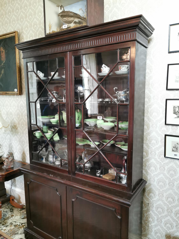 Georgian mahogany bookcase - Image 2 of 5