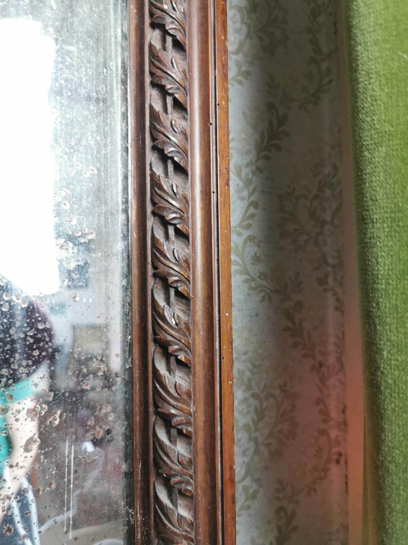 Pair of good quality 19th. C. mahogany pier mirrors - Image 5 of 7