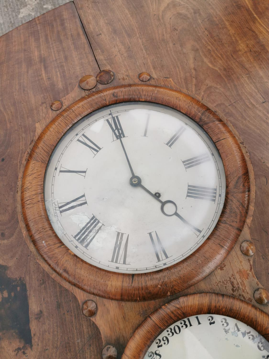 Rare Victorian rosewood institutional wall clock. - Image 3 of 3