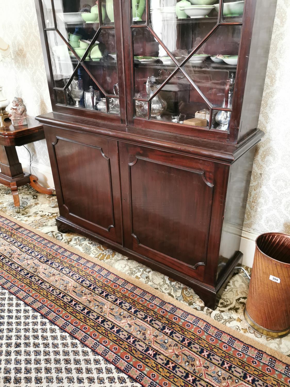 Georgian mahogany bookcase - Image 3 of 5