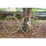 Rare 18th C. boneshaker bicycle.