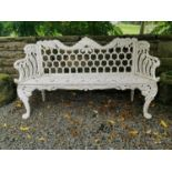 Cast iron bench in the Rocco style.