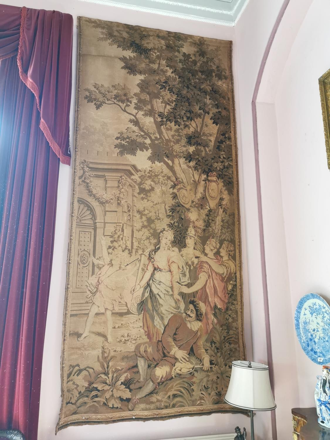 Pair of extremely rare 18th C. Flemish tapestries. - Image 2 of 11