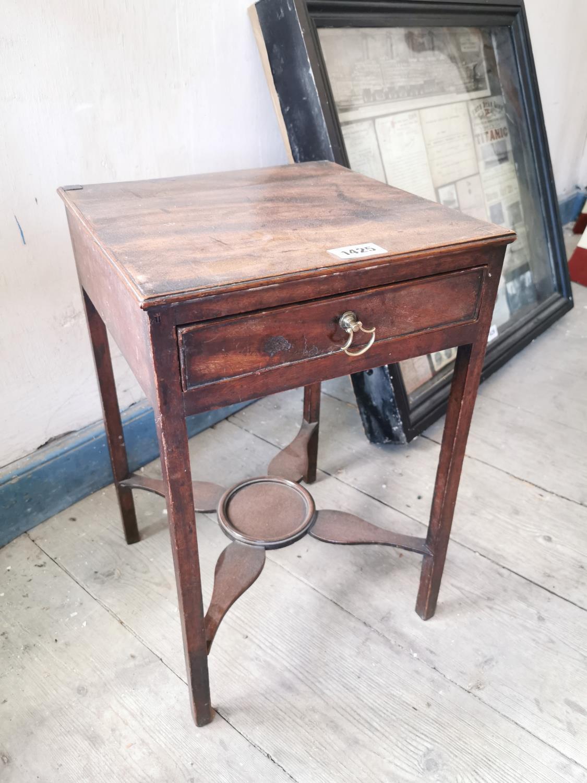 Georgian mahogany lamp table.